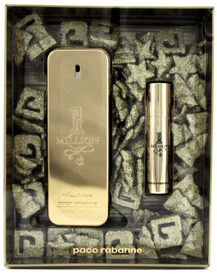 1 Million by Paco Rabanne Gift Set for Men: 3.4 oz. + 10 ml. EDT Spray. New Set.