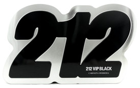 212 VIP BLACK by Carolina Herrera Set for Men 3.4 oz EDP Spray+Shower Gel 3.4 oz