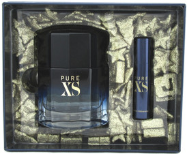 PURE XS by Paco Rabanne Gift Set for Men: 3.4 oz. + 10 ml. EDT Spray. New in Box