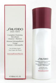 Shiseido Complete Cleansing Microfoam Cleanse + Remove For All Skin Types 180 ml./6 oz. NIB