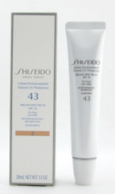 Shiseido Urban Environment Tinted UV Protector 43 Broad Spectrum SPF 43 For Face Water # 2 30 ml./1.1 oz. NIB