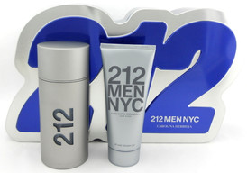 212 MEN NYC by Carolina Herrera 3.4 oz EDT Spray + 3.4 oz All Over Shower Gel