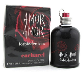 Amor Amor Forbidden Kiss by Cacharel 3.4 oz. EDT Spray for Women. Damaged Box.