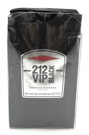 212 VIP BLACK Carolina Herrera 0.27 oz. Shower Gel Men Travel Packets LOT of 12