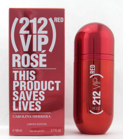 212 VIP Rose Red Limited Edition by Carolina Herrera Eau De Parfum Spray for Women 80 ml./ 2.7 oz.