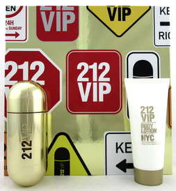 212 VIP by Carolina Herrera 2.7 oz. EDP Spray + 3.4 oz. Body Lotion. New Set.