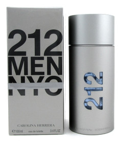 212 MEN NYC Cologne by Carolina Herrera 3.4 oz Eau de Toilette Spray Damaged Box