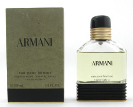 ARMANI Eau Pour Homme by Giorgio Armani EDT Men 100 ml./ 3.4 oz.  VINTAGE FORMULA Damaged Box LOWFILL Bottle