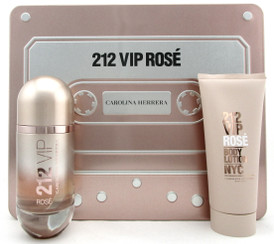 212 VIP ROSE by Carolina Herrera 2.7oz EDP Spray+3.4oz B/Lot. New SET for Women