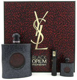 Black Opium by Yves Saint Laurent 3.0oz EDP+7.5ml EDP+Mascara.New Set.Damag.Box