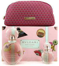 Bvlgari Rose Goldea BLOSSOM DELIGHT 2.5oz.& 15ml. EDP Spray+ Pouch. Women's SET