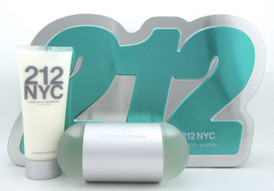 212 NYC by Carolina Herrera 3.4 oz. EDT Spray + 3.4 oz Body Lot. New SET for Women
