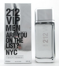212 VIP Men Cologne by Carolina Herrera 6.8 oz./ 200 ml. EDT Spray Damaged Box