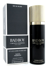 Bad Boy by Carolina Herrera 3.4 oz. Fresh EDT Power Up Spray for Men. New Tester