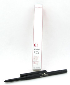 Clarins Waterproof Eye Pencil Black Tulip 01 Long Lasting 0.01 oz. Brand New