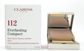 Clarins Everlasting Compact Foundation SPF 9  # 112 Amber 10 g./ 0.3 oz. New