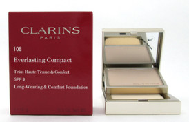 Clarins Everlasting Compact Foundation SPF 9  # 108 Sand 10 g./ 0.3 oz. New
