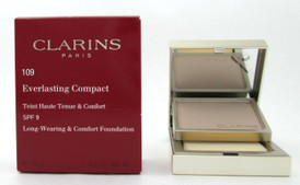 Clarins Everlasting Compact Foundation SPF 9  # 109 Wheat 10 g./ 0.3 oz. New