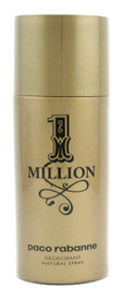 1 Million by Paco Rabanne Deodorant Spray 5.1 oz for Men. Brand New.Sealed