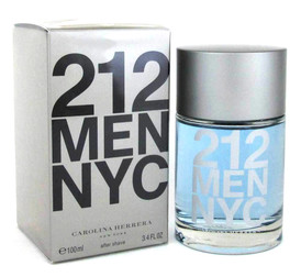 212 Men by Carolina Herrera After Shave Splash 3.4 oz./100 ml. Sealed.