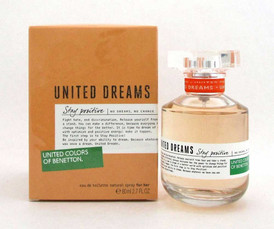 Benetton United Dreams Stay Positive EDT Spray 2.7oz/ 80ml for Women
