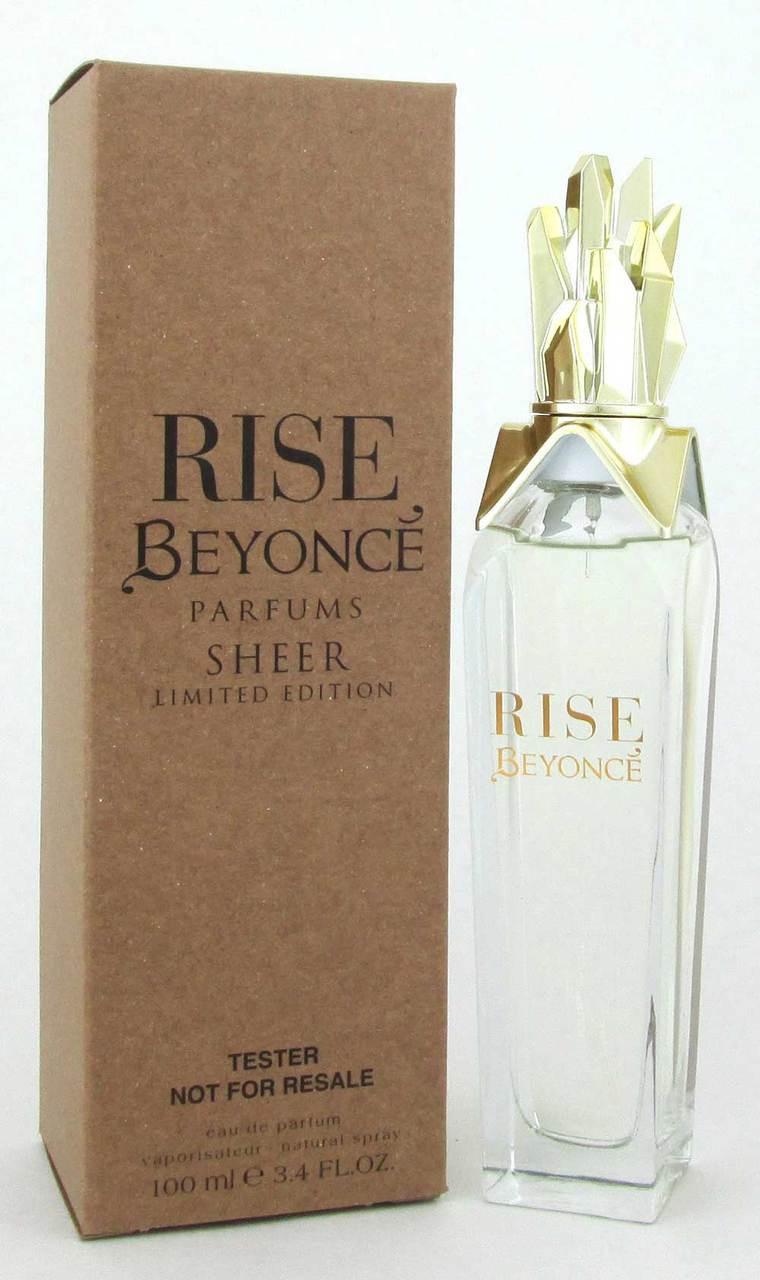 Beyonce Rise Sheer Eau De Parfum Spray 34 Oz 100 Ml Women Tester