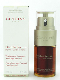Clarins Double Serum Complete Age Control Concentrate 30 ml./ 1.0 oz. Damaged Box