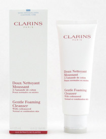 Clarins Gentle Foaming Cleanser with Cottonseed Normal to Combination Skin 4.4 oz./125 ml. New In Box