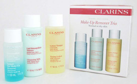 Clarins Make-Up Remover Trio Normal to Dry Skin 2 x 1.7 oz+ 1.0 oz