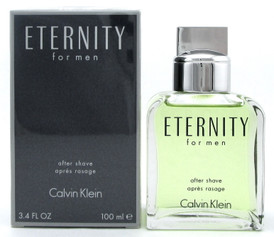 Eternity by Calvin Klein 3.4 oz. After Shave Splash for Men. New Sealed Box