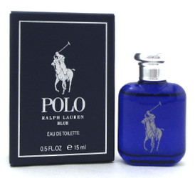 Polo Blue by Ralph Lauren 0.5 oz./ 15 ml. Eau de Toilette SPLASH for Men. New
