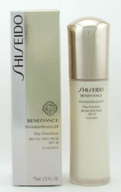 Shiseido Benefiance WrinkleResist24 Day Emulsion SPF 18 75 ml./ 2.5 oz. NIB