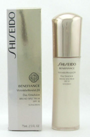 Shiseido Benefiance WrinkleResist24 Day Emulsion SPF18 75 ml./ 2.5 oz. Damaged Box