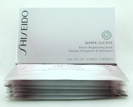 Shiseido White Lucent Power Brightening Mask Pack of 6