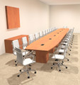Modern Boat Shaped Cube Leg 30' Feet Conference Table, #OF-CON-CQ97