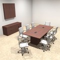 Modern Rectangular Top Cube Leg 8' Feet Conference Table, #OF-CON-CS5