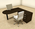 3pc L Shaped Modern Executive Office Desk, #OT-SUL-L20