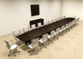 Modern Boat Shapedd 26' Feet Conference Table, #OF-CON-C100