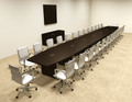 Modern Boat Shapedd 30' Feet Conference Table, #OF-CON-C110