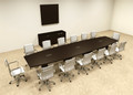 Modern Boat Shapedd 16' Feet Conference Table, #OF-CON-C75