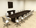 Modern Boat Shapedd 18' Feet Conference Table, #OF-CON-C80