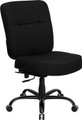 Big & Tall 400 lb. Capacity Big & Tall Black Fabric Office Chair with Extra WIDE Seat , #FF-0294-14