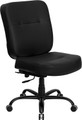 Big & Tall 400 lb. Capacity Big & Tall Black Leather Office Chair with Extra WIDE Seat , #FF-0296-14