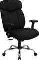Big & Tall 350 lb. Capacity Big & Tall Black Fabric Office Chair with Arms , #FF-0301-14