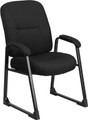 Big & Tall 400 lb. Capacity Black Fabric Executive Side Chair with Sled Base , #FF-0307-14