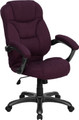 High Back Grape Microfiber Upholstered Contemporary Office Chair , #FF-0279-14