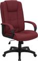 High Back Burgundy Fabric Executive Office Chair , #FF-0281-14