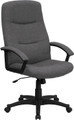 High Back Gray Fabric Executive Swivel Office Chair , #FF-0283-14