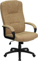 High Back Beige Fabric Executive Office Chair , #FF-0288-14