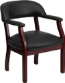 Black Vinyl Luxurious Conference Chair , #FF-0470-14